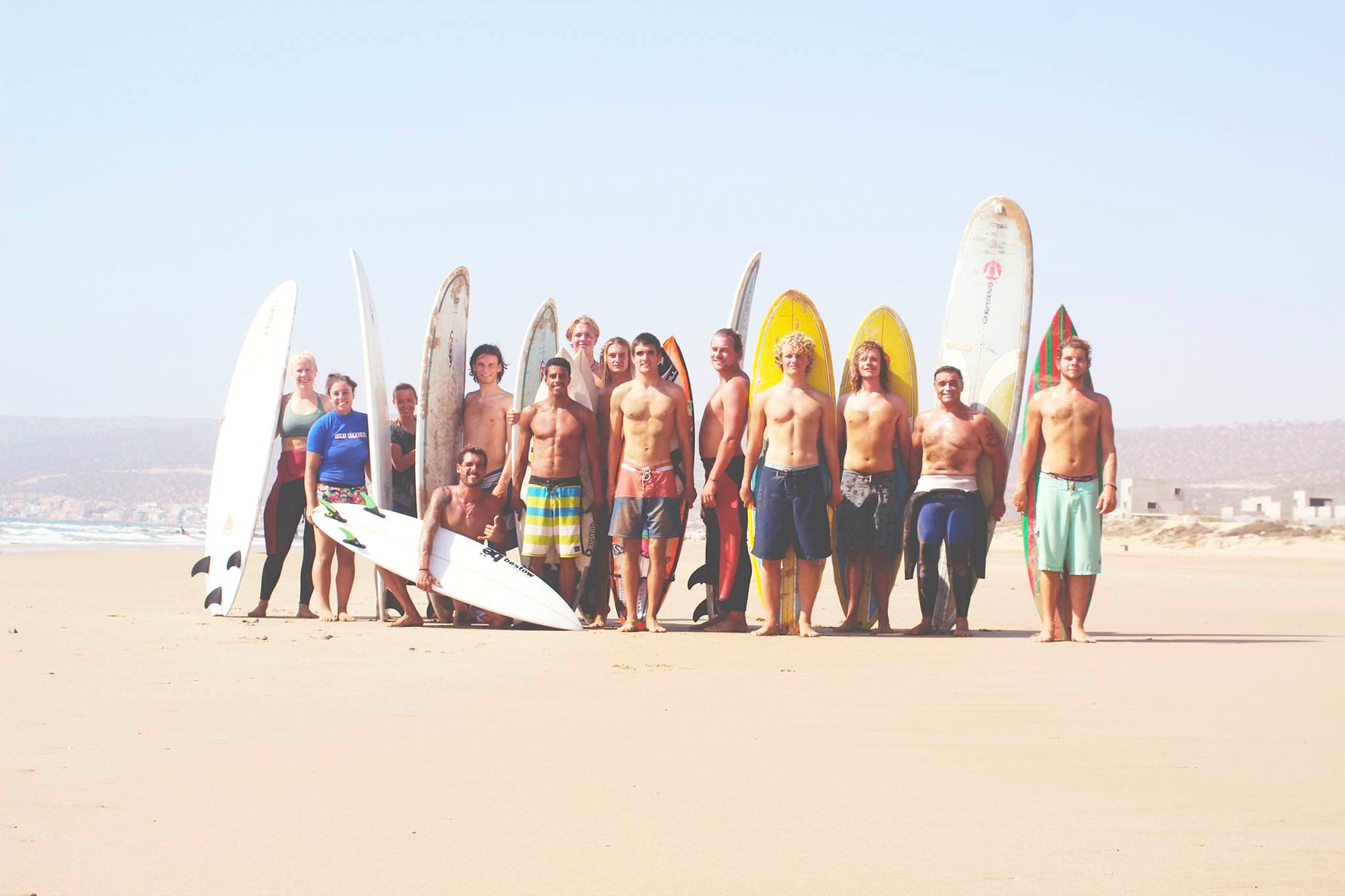 12 week surf instructor course group