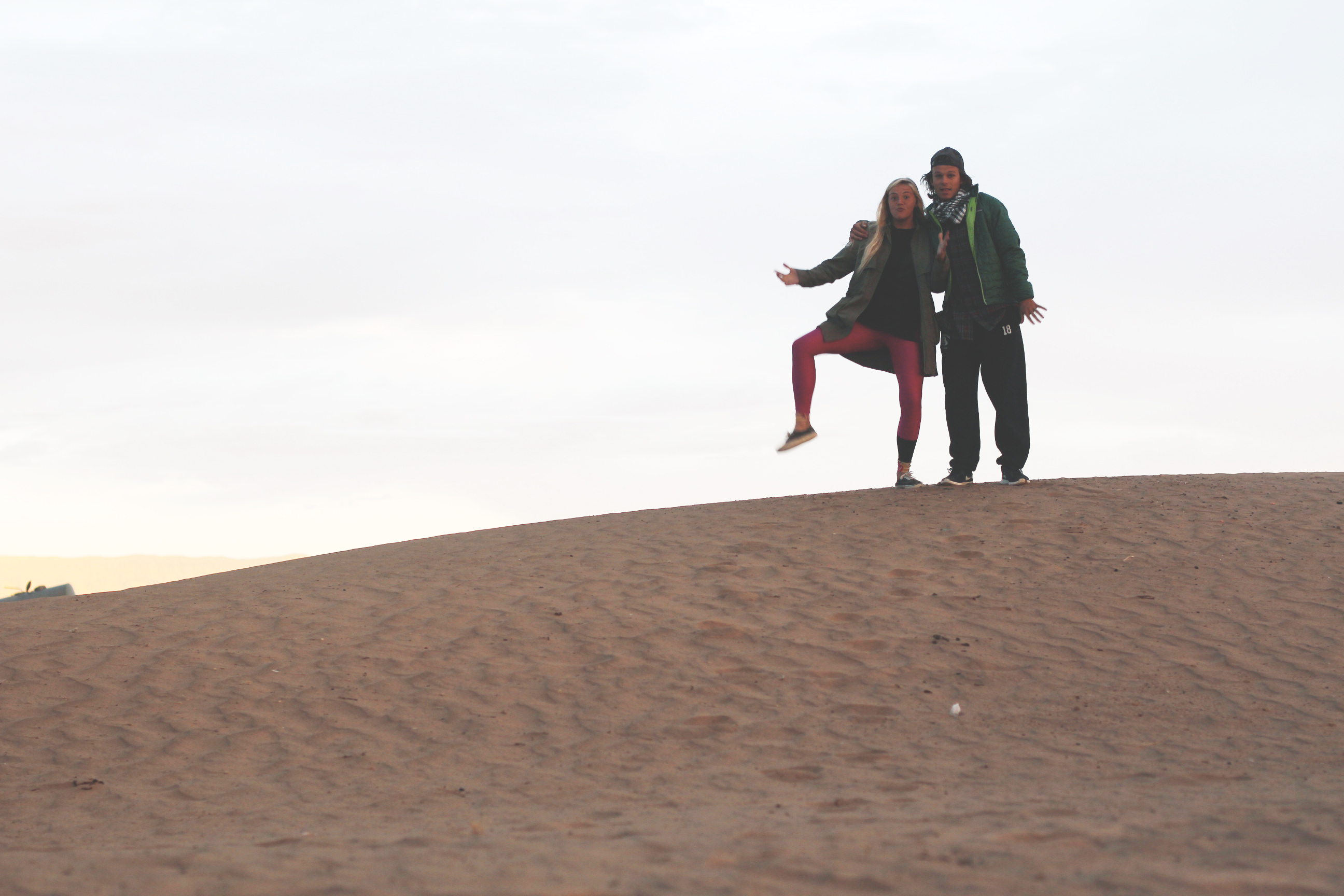 gus and mary in the desert