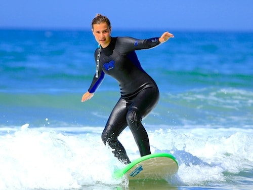 learning to surf with surf berbere in taghazout morocco