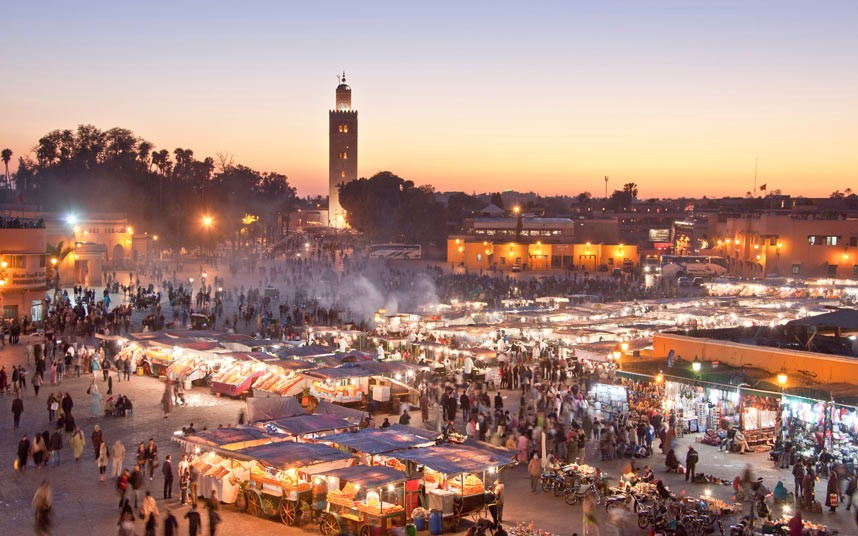 marrakech sunset with morocco surfing holiday