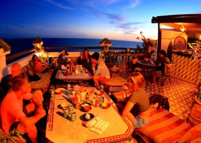 surf berbere roof terrace dinner surfing holiday morocco taghazout-min