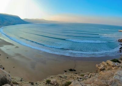 immesouane bay stunning surf spot