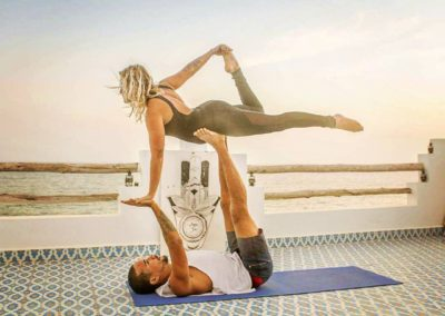 yoga with surf berbere in the most amazing yoga studio in taghazout