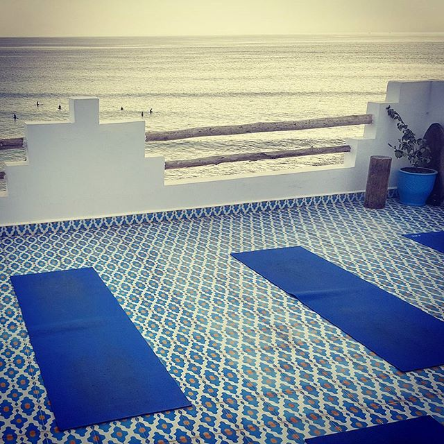surf & yoga studio at surf berbere taghazout camp