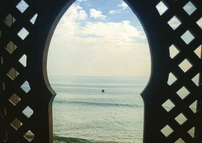 the view from the surf berbere office in taghazout