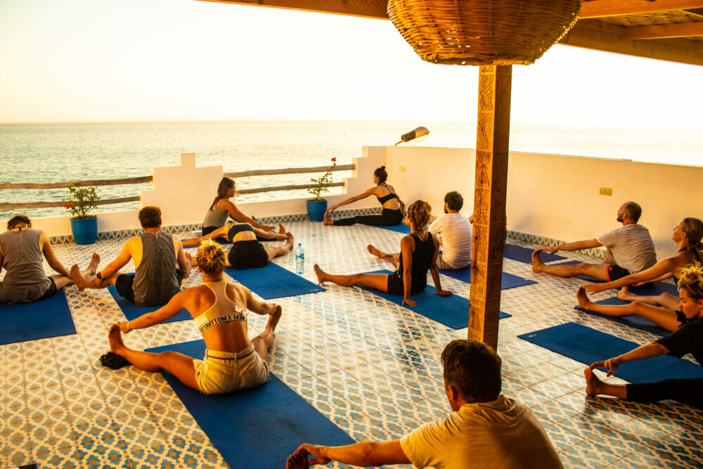 surf camp yoga studio in morocco